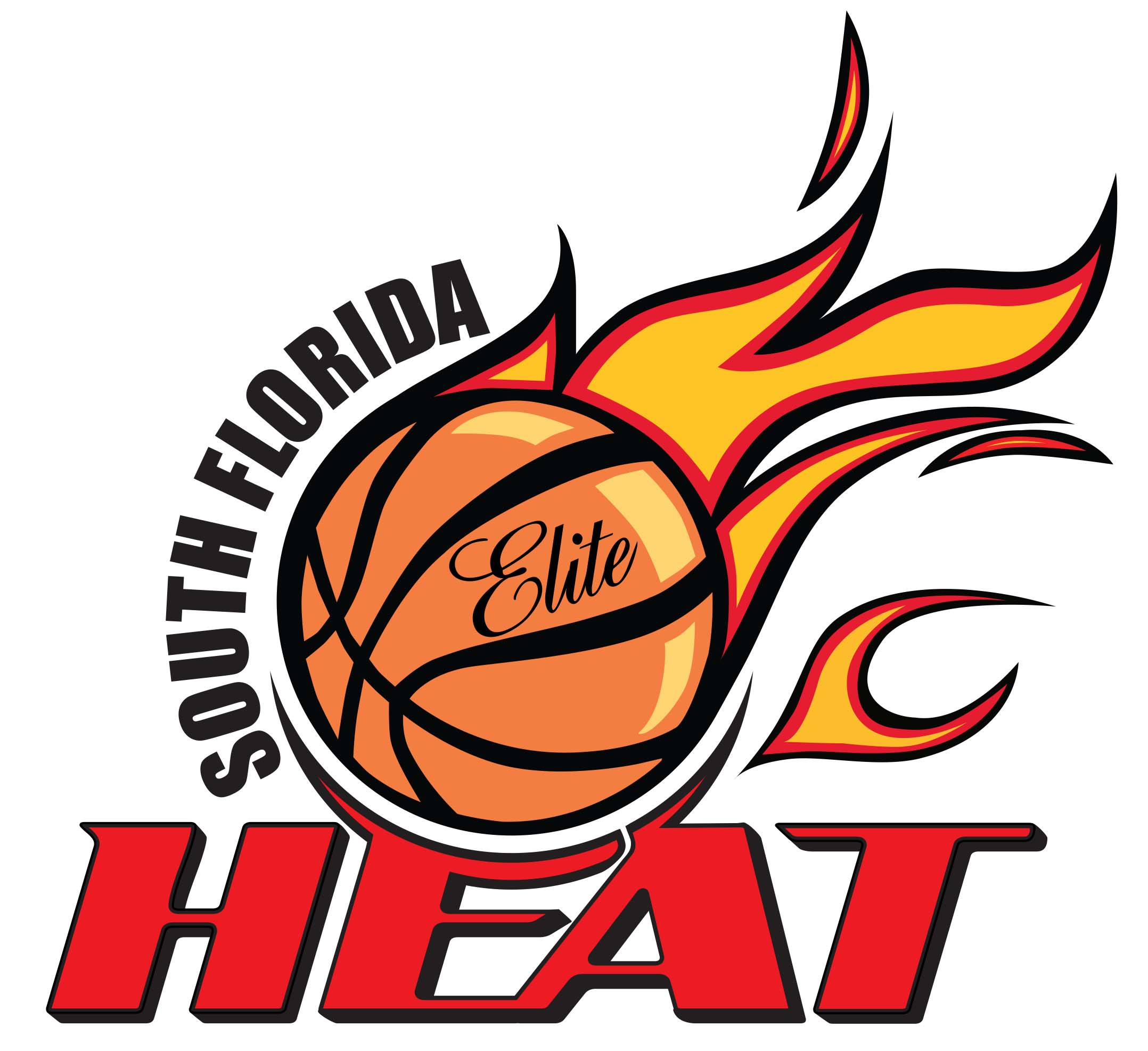 South Florida Heat Travel Basketball Logo